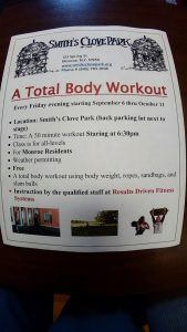 A total body workout @ smith's clove park